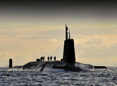 """""""Vanguard at Faslane 02"""" by CPOA(Phot) Tam McDonald - Defence Imagery. Licensed under OGL via Wikimedia Commons - http://bit.ly/1CBWlhW"""