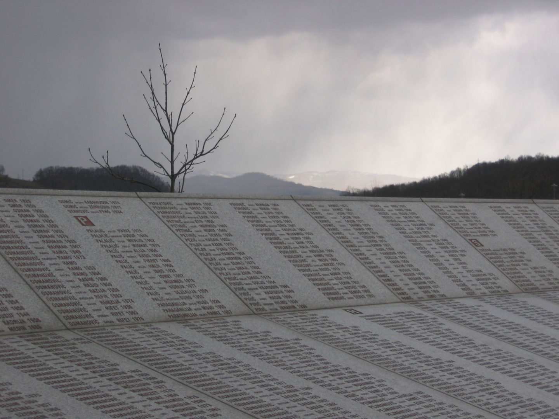 Wall of names at the Potočari genocide memorial near Srebrenica. #6A6161