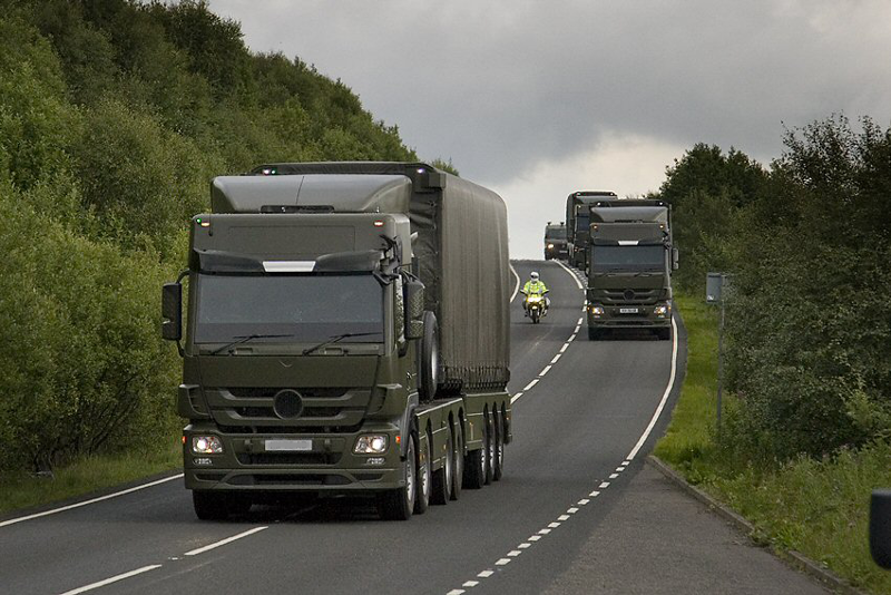 nuclear bomb convoys