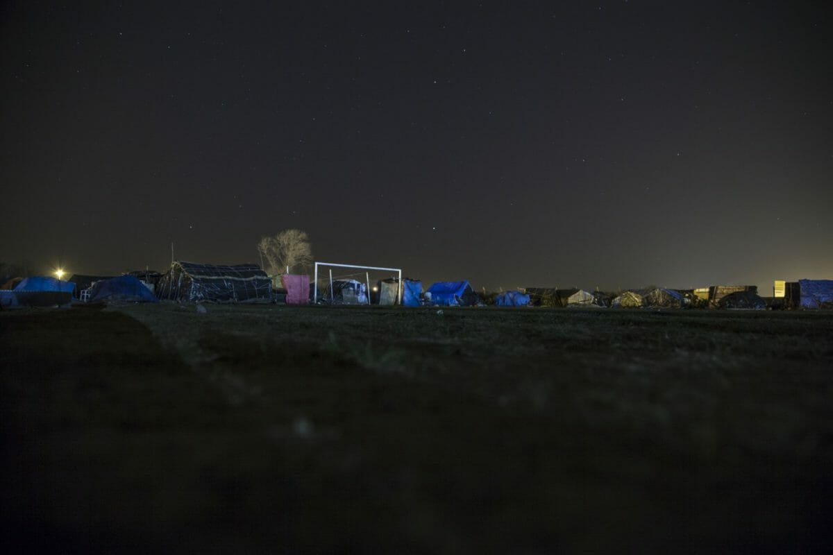 Night over the football field