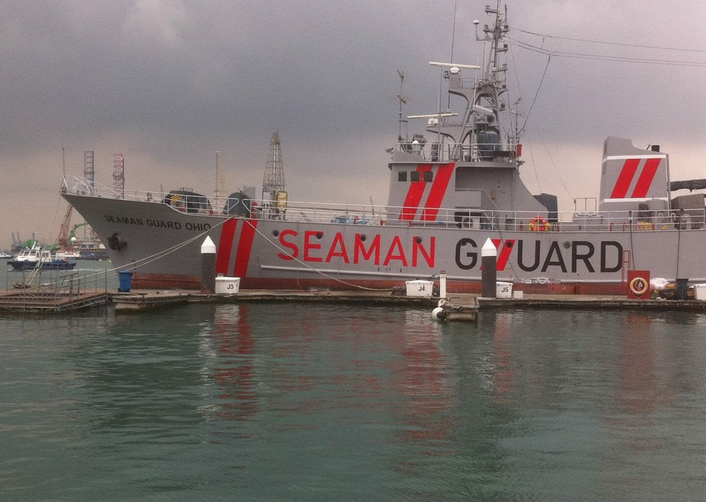 MV Seaman Guard Ohio photographed at Singapore