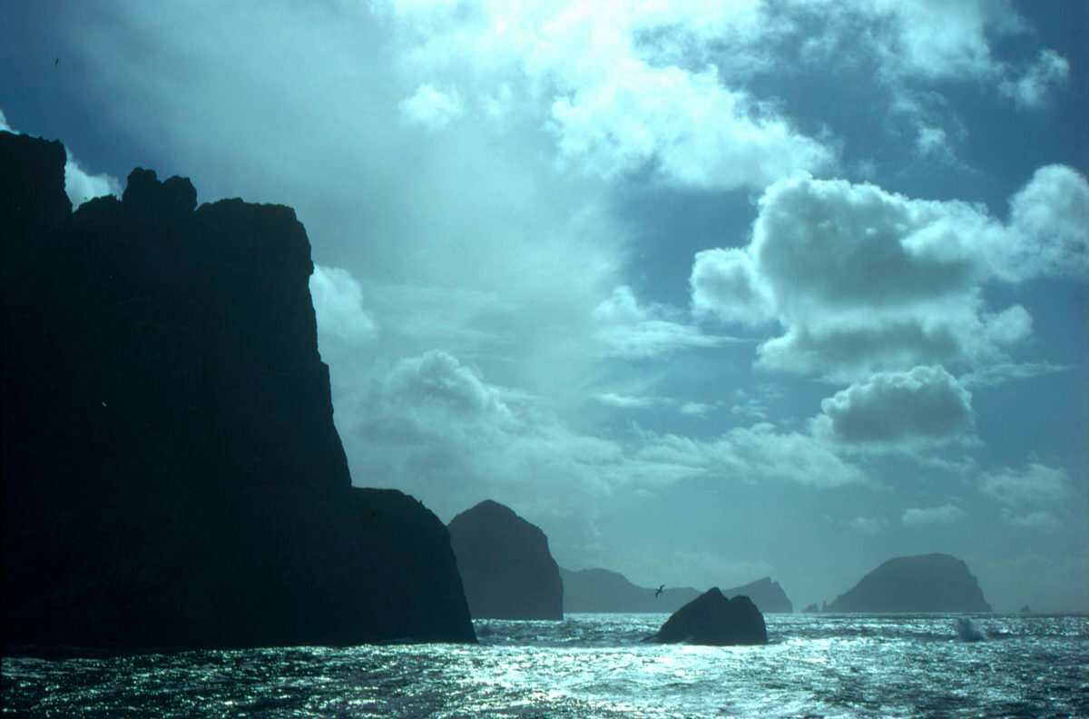 View of St Kilda and Stacs from the Sea