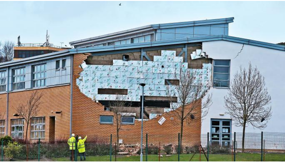 Oxgangs Primary after wall collapse