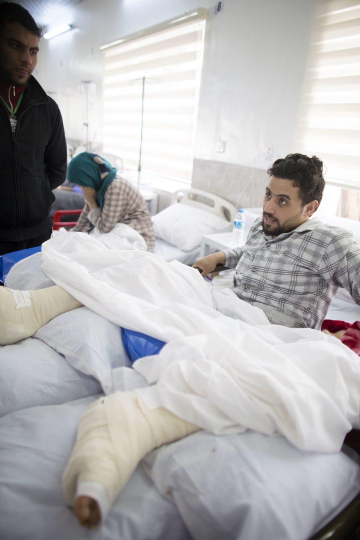 Ahmed Ali had both legs broken in a suicide bombing attack