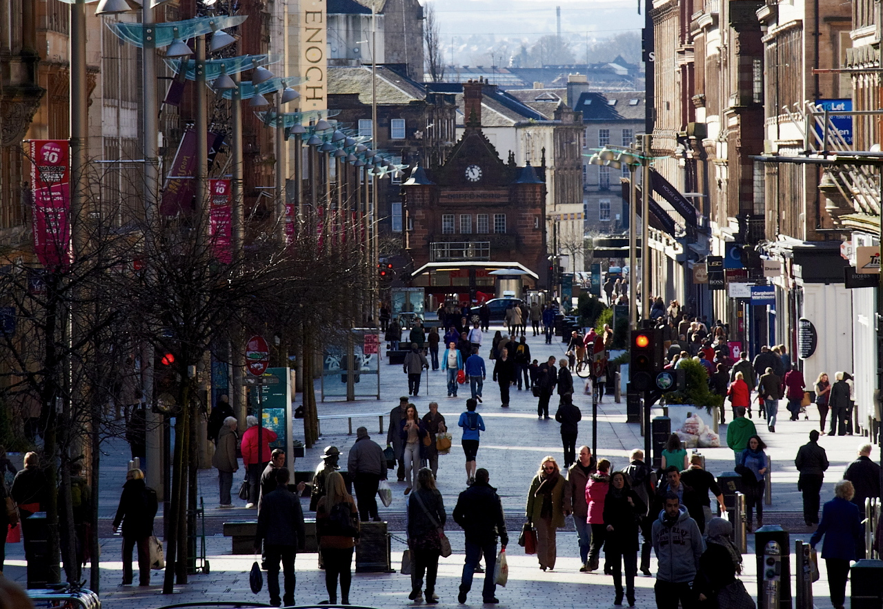 Shoppers in Glasgow