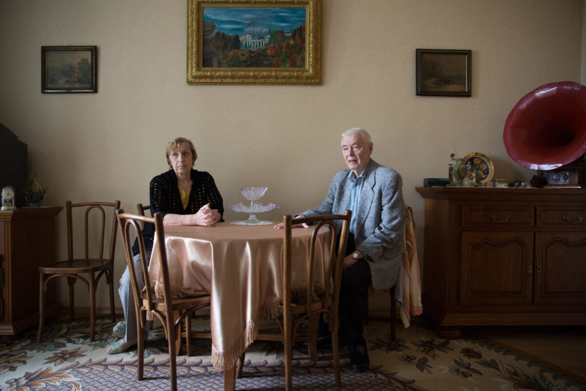 Olga and Vassily Leskova have lived in their flat in the Nishegorodsky district all their lives. Friction has broken out between neighbours who voted for demolition of their block, and people like Olga and Vassily who voted against