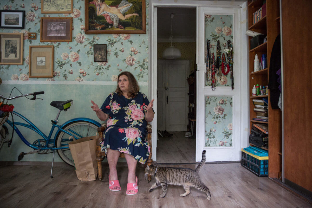 Tatyana Buyanova, an architect and town planner who lives in a two-storey cottage sits on prime land earmarked for demolition.