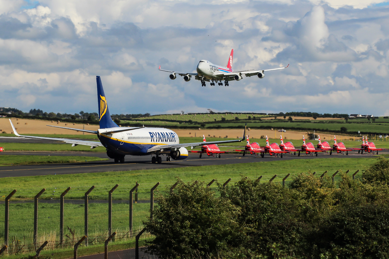 Planes at Prestwick Airport