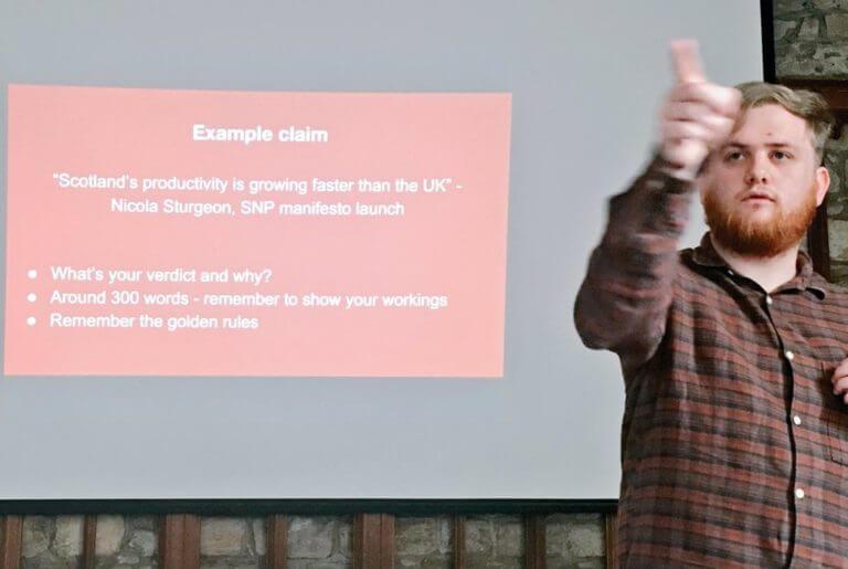 Factchecking training