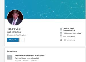 Richard Cook LinkedIn profile