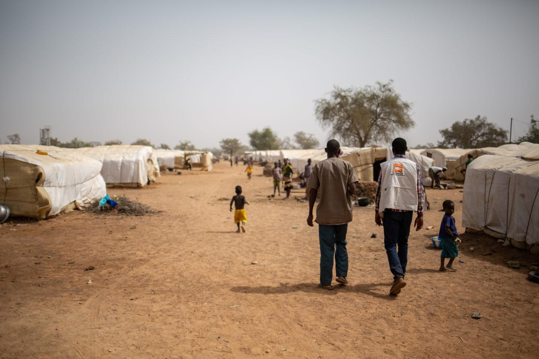 Camp for those fleeing Burkina Faso violence