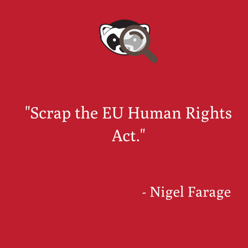 Scrap the EU Human Rights Act Nigel Farage