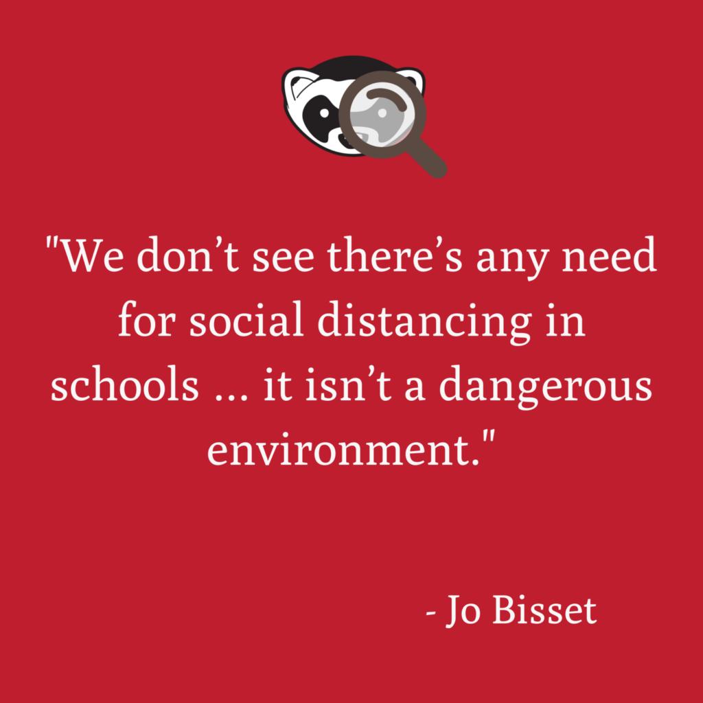 Social distancing schools factcheck