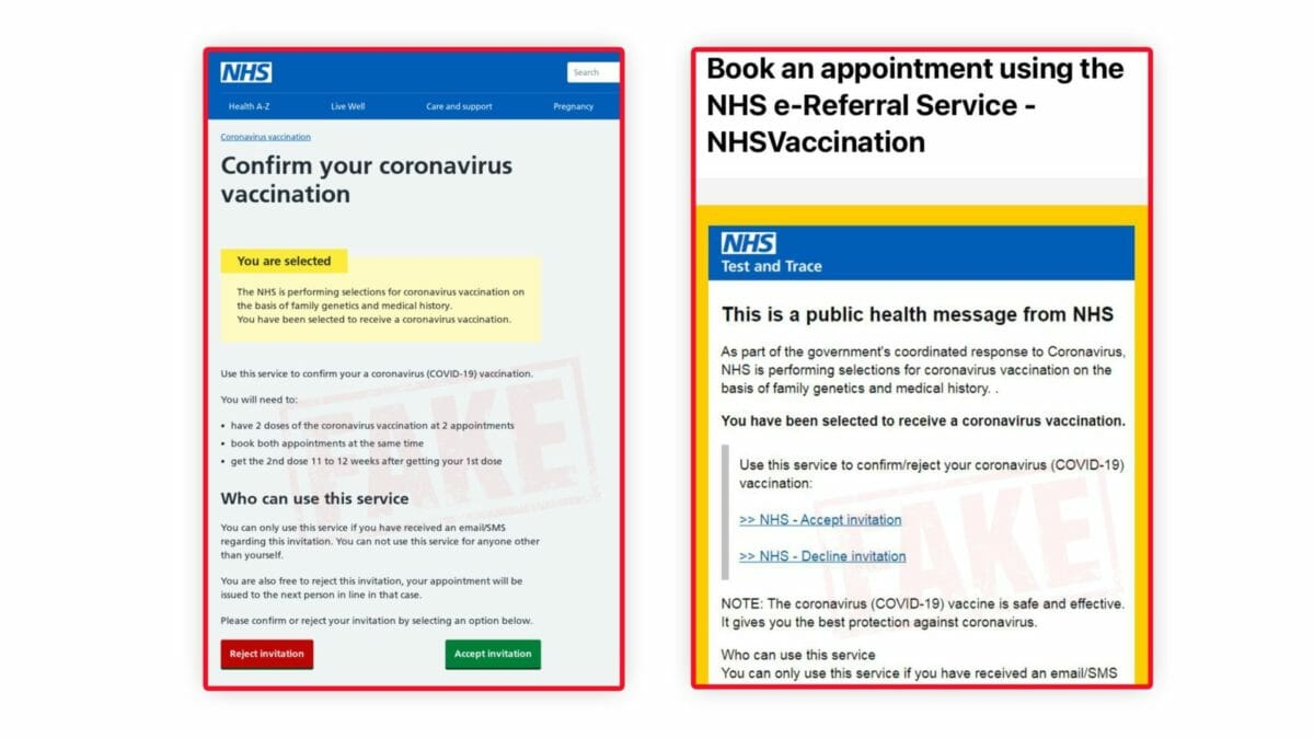 NHS vaccination scam