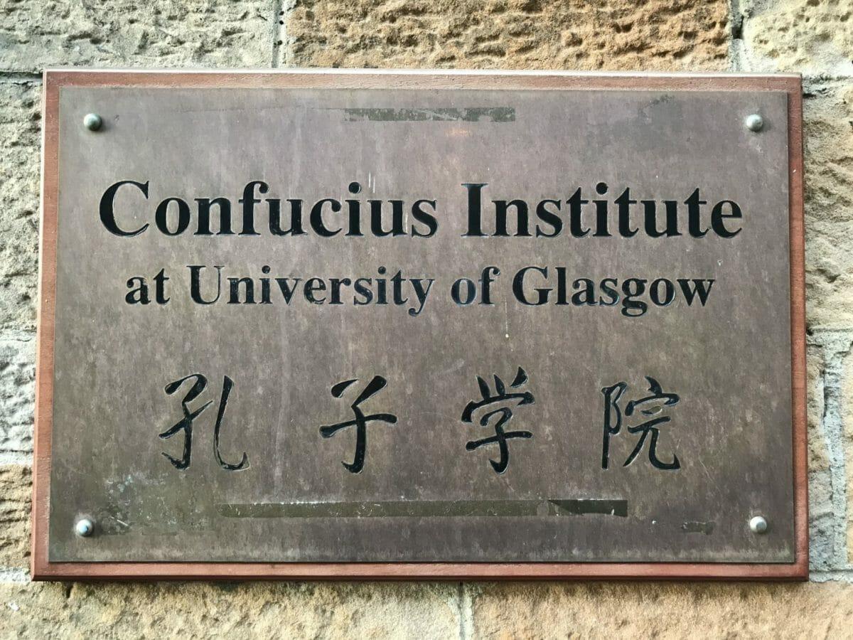 Confucius Institute sign